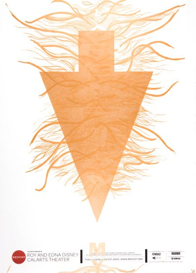 CalArts poster: REDCAT: Post-Living by Tara Tannenbaum