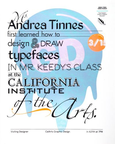 CalArts poster: Andrea Tinnes by Tom Kracauer