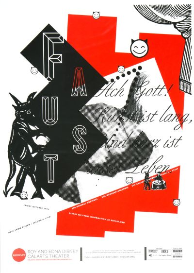 CalArts poster: REDCAT: Faust by Alex Pines David Matthew Davis