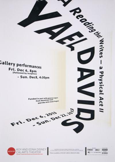 CalArts poster: REDCAT: Yael Davids by Hyunsoo Cho Tracy Kim