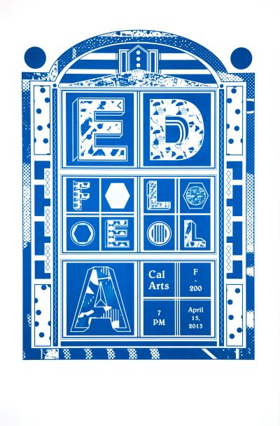 CalArts poster: Ed Fella Farewell Lecture: Ed Fella by Julie Moon