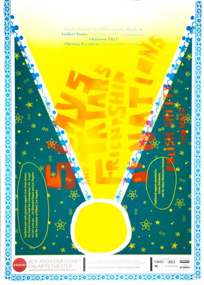 CalArts poster: REDCAT: Slavs and Tatars Friendship of Nations by Kaoru Matsushita Sergei Devo Acuña