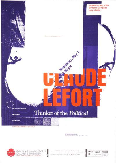 CalArts poster: REDCAT: Claude Lefort by Kaoru Matsushita Mitchel Cox SoYun Cho