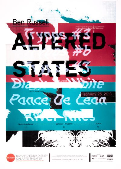CalArts poster: REDCAT: Altered States, Ben Russell by Matthew King