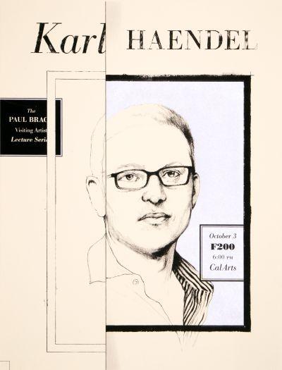 CalArts poster: Karl Haendel by David Robinson
