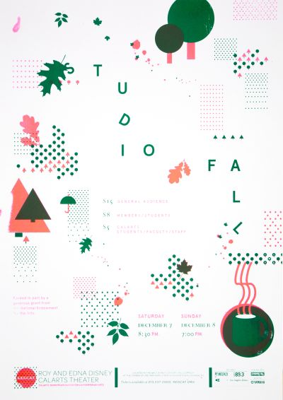 CalArts poster: REDCAT: 2013 Fall Studio by Angela Bac Christine Shen
