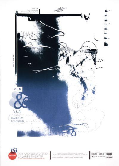 CalArts poster: REDCAT: VLN and VLA by Cathy Kangwon Lee Kat Dickinson Sarah Shoemake