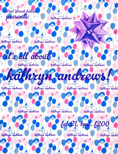 CalArts poster: Kathryn Andrews by Jenny Song Juyoung Kim