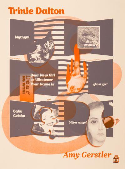CalArts poster: Trinie Dalton and Amy Gerstler by Jenny Song Kaoru Matsushita