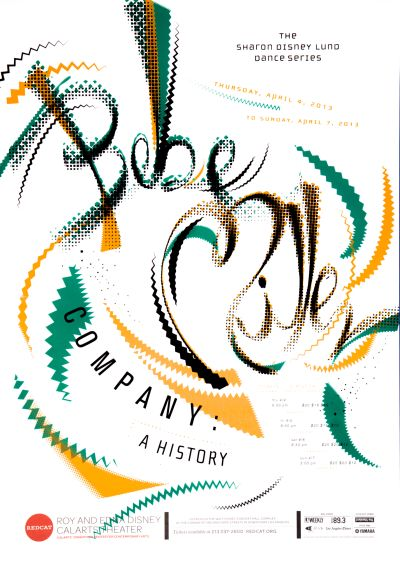 """CalArts poster: REDCAT: Bebe Miller Company, """"A History"""" by Jenée Jernigan Pedro Lavin"""