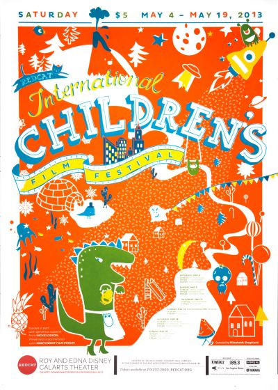 CalArts poster: REDCAT: 2013 International Children's Film Festival by Cindi Kusuda Francesca Ramos Juyoung Kim
