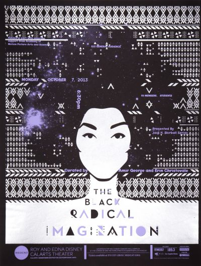 CalArts poster: REDCAT: The Black Radical Imagination by Brian Thompsen Cindi Kusuda