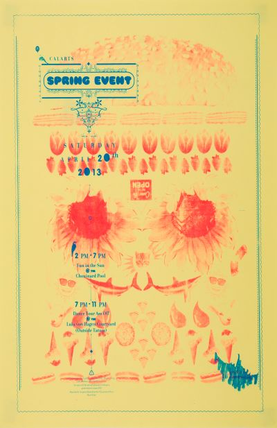 CalArts poster: CalArts Spring Event by