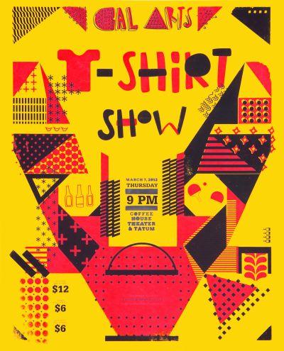 CalArts poster: 2013 CalArts T-Shirt Show by Amanda Lui Sarah Young