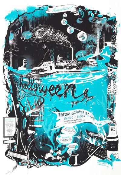 CalArts poster: 2014 CalArts Halloween by Angela Bac Jessie Zo