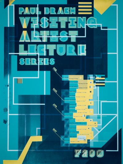 CalArts poster: 2015 Paul Brach Visiting Artist Lecture Series by Brian Thompsen JJ Adkisson
