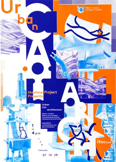 CalArts poster: Urban Cat Architecture by Aamina Ganser David Chathas