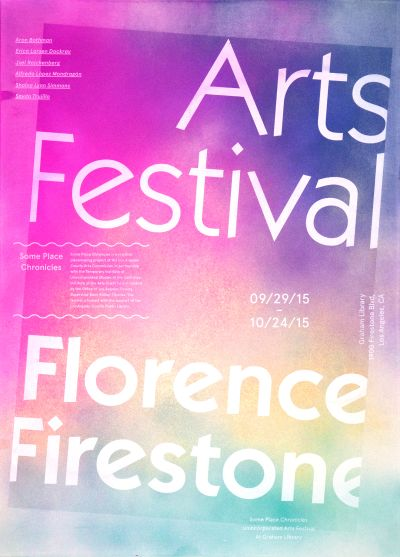CalArts poster: Florence Firestone: Arts Festival by Iris Chung Jessica Lee
