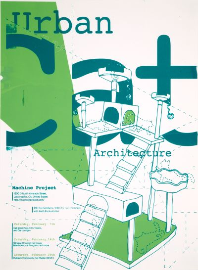 CalArts poster: Urban Cat Architecture by Jane Hong Won Choi