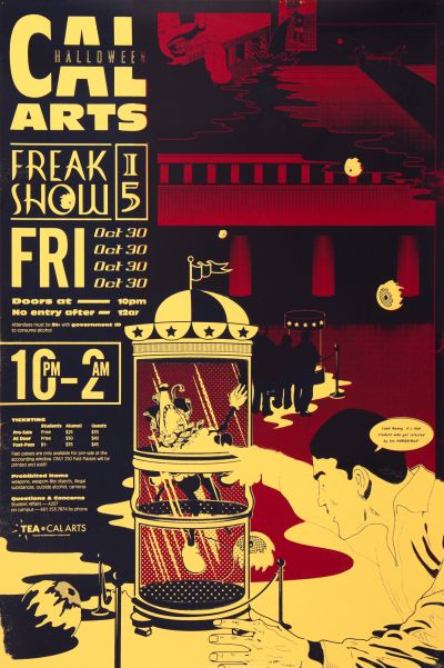 CalArts poster: 2015 CalArts Halloween: Freak Show by Miyu Shirotsuka Nick Humbel