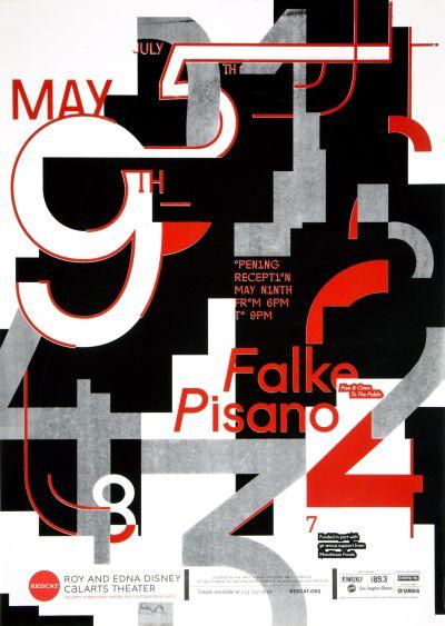 CalArts poster: REDCAT: Falke Pisano by Jessica Kao Miyu Shirotsuka