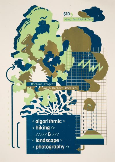 CalArts poster: Algorithmic Hiking & Landscape Photography by Karen Hong Sohee Kim