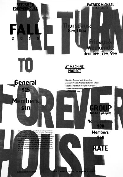 CalArts poster: Return to Forever House by Jessica Lee