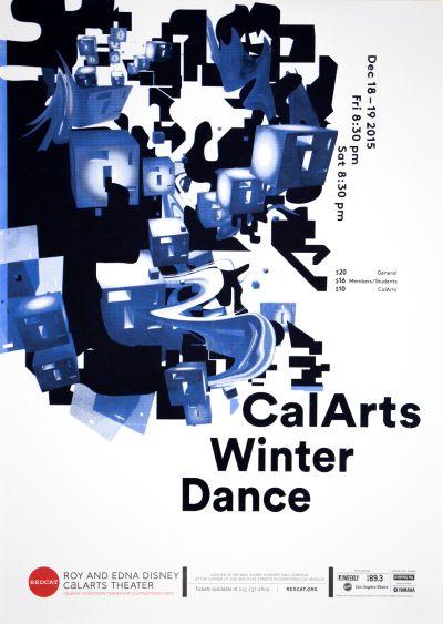 CalArts poster: REDCAT: CalArts Winter Dance by Dasol Jung Jimin Kim Mina Shoaib