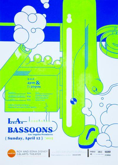 CalArts poster: REDCAT: L.A. Bassoons by Jack Mulholland Karen Hong