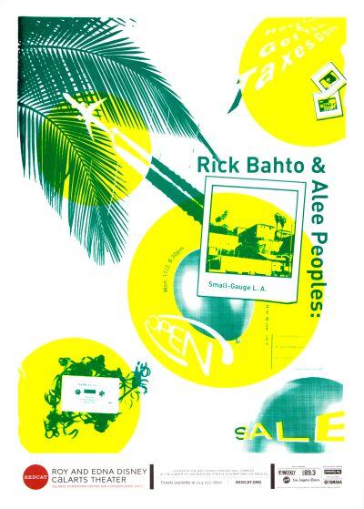 CalArts poster: REDCAT: Rick Bahto & Alee Peoples by Caroline Renzelman Jane Hong Won Choi