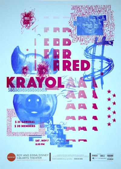 CalArts poster: REDCAT: Red Krayola by Caroline Renzelman Tracy Kim