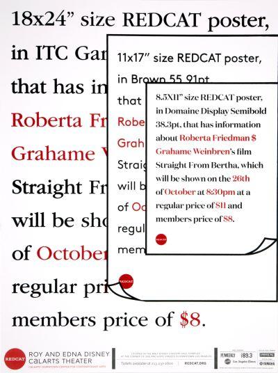 CalArts poster: REDCAT: Roberta Friedman & Grahame Weinbren by Sohee Kim