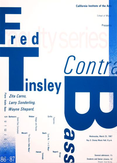 CalArts poster: Faculty Series: Fred Tinsley by Siwat Bunnag