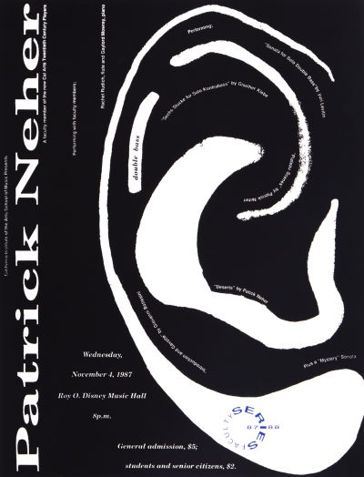 CalArts poster: '87 – '88 Faculty Series: Patrick Neher by