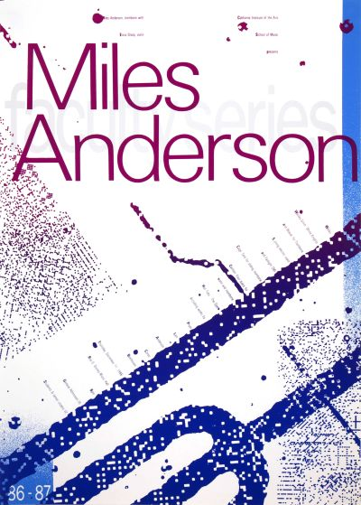 CalArts poster: '86 – '87 Faculty Series: Miles Anderson by