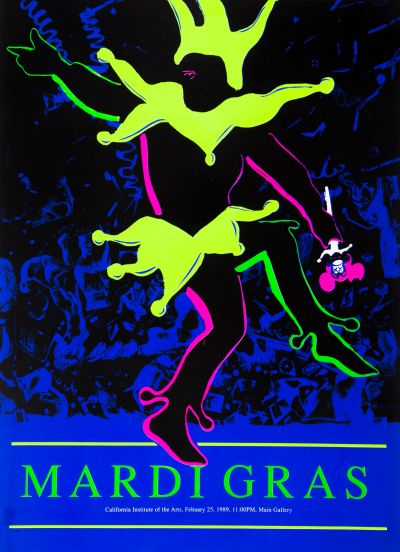 CalArts poster: Mardi Gras by