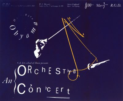 CalArts poster: An Orchestra Concert by Letitia Poteet