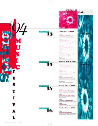 CalArts poster: '94 Spring Music Festival by
