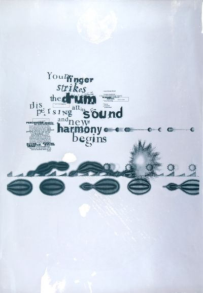 CalArts poster: Percussion Music by Dave Ewald Jens Gehlhaar