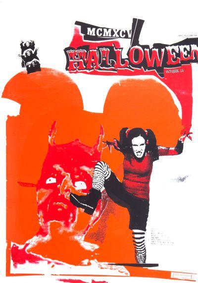 CalArts poster: 1995 CalArts Halloween by David Vegezzi