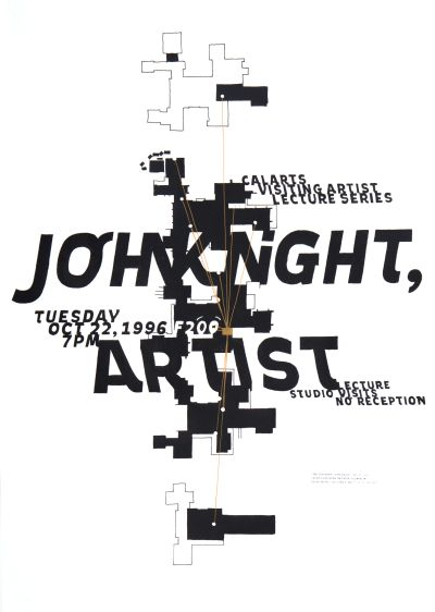 CalArts poster: John Knight by Jens Gehlhaar
