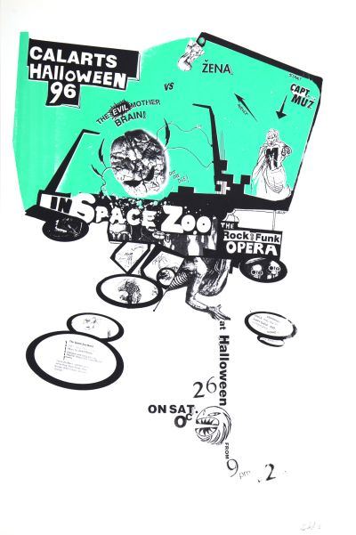 CalArts poster: 1996 CalArts Halloween: Space Zoo by Christopher Selby