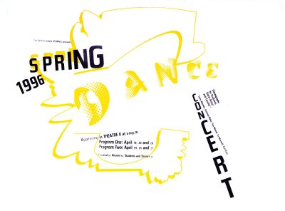 CalArts poster: 1996 Spring Dance Concert by