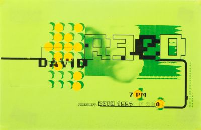 CalArts poster: David Reed by Bele Ducke