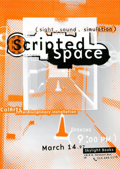 CalArts poster: Scripted Space by