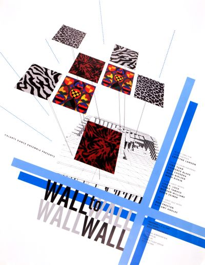 CalArts poster: Wall to Wall by Edward Rhyu