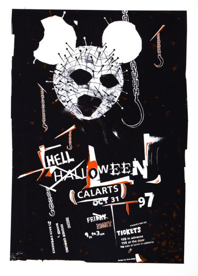 CalArts poster: 1997 CalArts Halloween: Hell Halloween by Christopher Selby