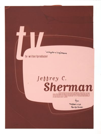 CalArts poster: Jeffrey C. Sherman by