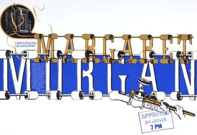 CalArts poster: Margaret Morgan by Ana Llorente