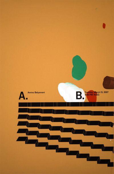 CalArts poster: Amino Belyamani by Aaron Vinton